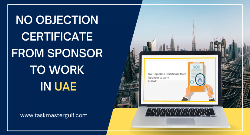 No Objection Certificate from Sponsor to work in UAE